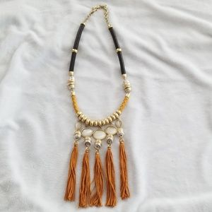 NWOT Lucky Brand Silk Cord Necklace